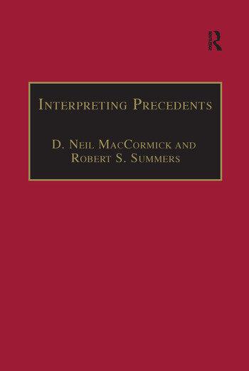 Interpreting Precedents A Comparative Study book cover