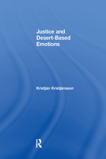 Justice and Desert-Based Emotions book cover