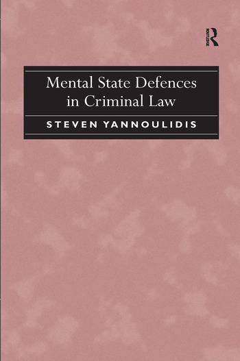Mental State Defences in Criminal Law book cover