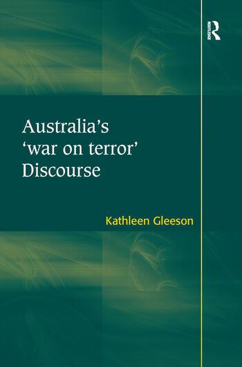 Australia's 'war on terror' Discourse book cover