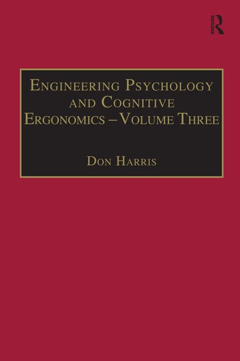 Engineering Psychology and Cognitive Ergonomics Volume 3: Transportation Systems, Medical Ergonomics and Training book cover