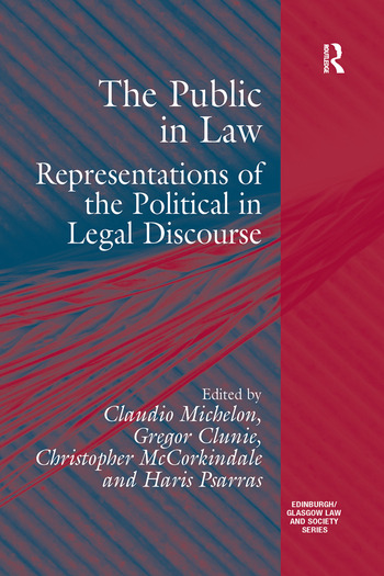 The Public in Law Representations of the Political in Legal Discourse book cover