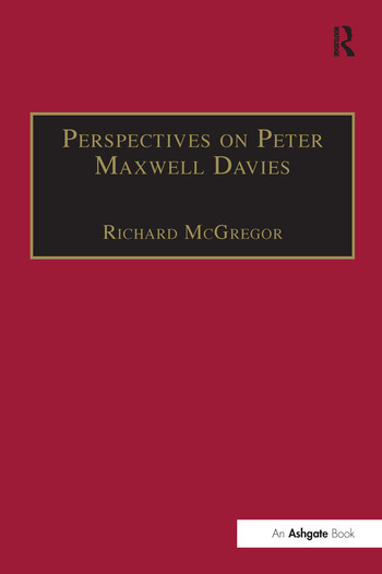 Perspectives on Peter Maxwell Davies book cover