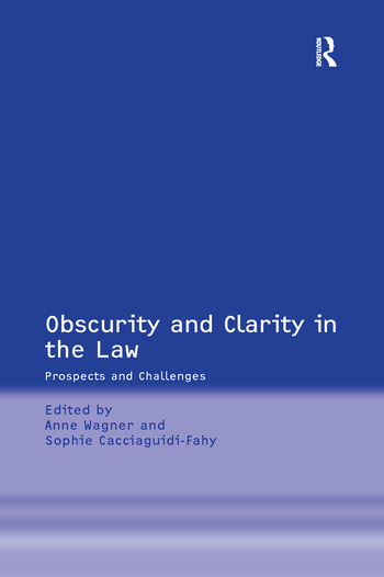 Obscurity and Clarity in the Law Prospects and Challenges book cover
