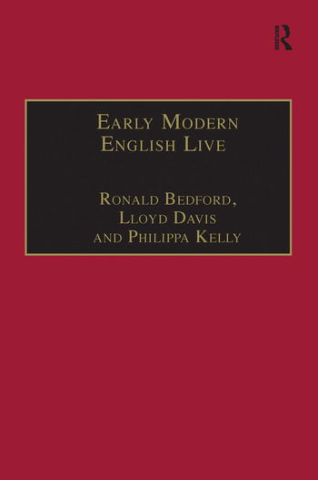 Early Modern English Lives Autobiography and Self-Representation 1500–1660 book cover