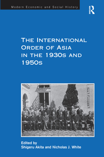The International Order of Asia in the 1930s and 1950s book cover