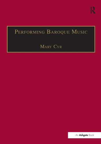 Performing Baroque Music book cover