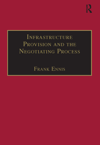 Infrastructure Provision and the Negotiating Process book cover