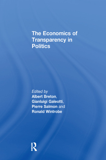 The Economics of Transparency in Politics book cover