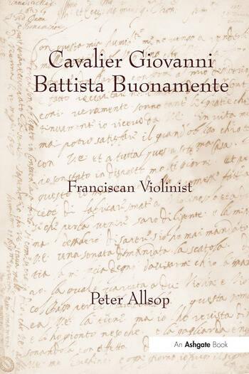 Cavalier Giovanni Battista Buonamente Franciscan Violinist book cover