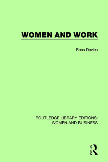 Women and Work book cover