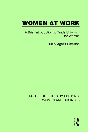 Women at Work A Brief Introduction to Trade Unionism for Women book cover