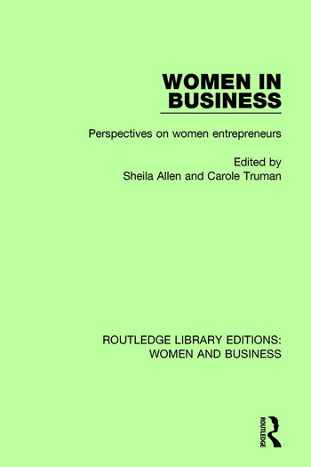Women in Business Perspectives on Women Entrepreneurs book cover