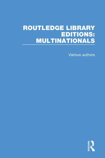 Routledge Library Editions: Multinationals book cover
