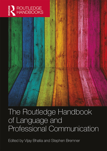 The Routledge Handbook of Language and Professional Communication book cover