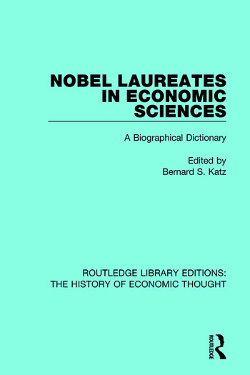 Nobel Laureates in Economic Sciences A Biographical Dictionary book cover