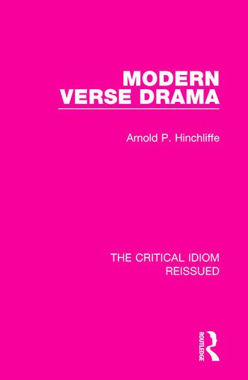 Modern Verse Drama book cover