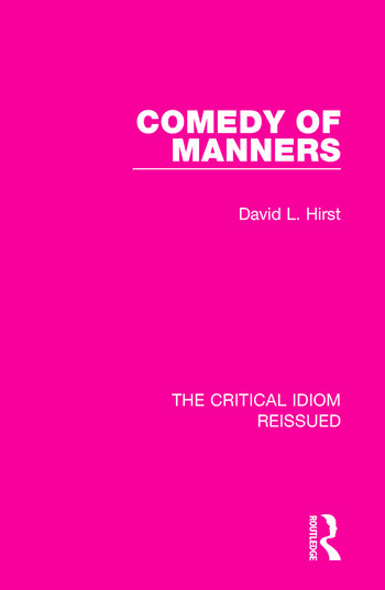 Comedy of Manners book cover