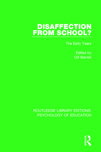 Disaffection from School? The Early Years book cover