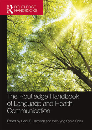The Routledge Handbook of Language and Health Communication book cover