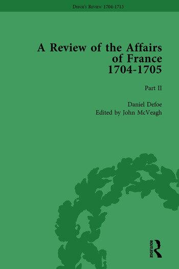 Defoe's Review 1704-13, Volume 1 (1704-5), Part II book cover