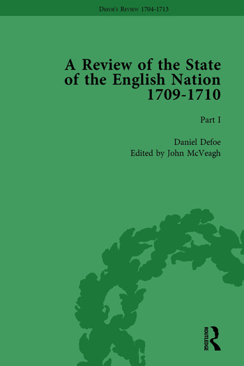 Defoe's Review 1704-13, Volume 6 (1709-10), Part I book cover