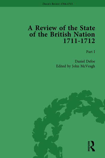 Defoe's Review 1704–13, Volume 8 (1711–12), Part I book cover