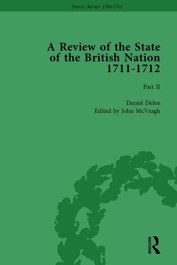 Defoe's Review 1704–13, Volume 8 (1711–12), Part II book cover
