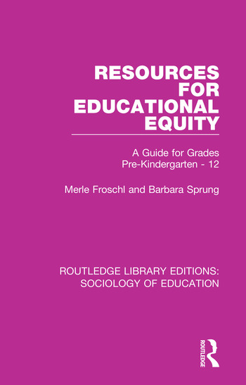 Resources for Educational Equity A Guide for Grades Pre-Kindergarten - 12 book cover