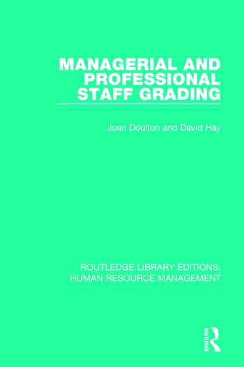 managerial and professional staff grading crc press book