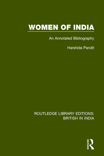 Women of India An Annotated Bibliography book cover