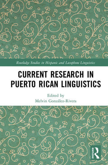 Current Research in Puerto Rican Linguistics book cover