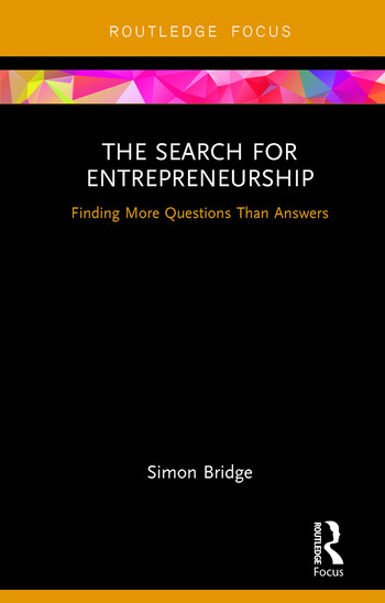 The Search for Entrepreneurship Finding More Questions Than Answers book cover