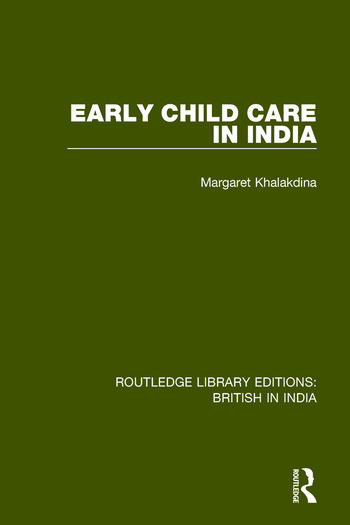 Early Child Care in India book cover