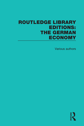 Routledge Library Editions: The German Economy book cover