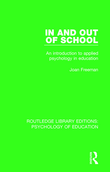 In and Out of School An Introduction to Applied Psychology in Education book cover