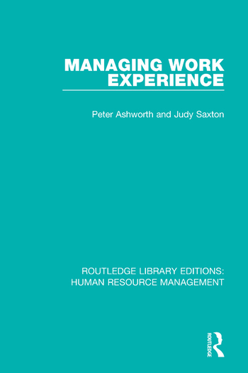 Managing Work Experience book cover