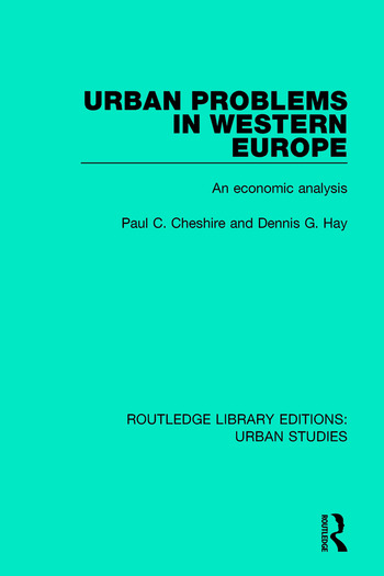 Urban Problems in Western Europe An Economic Analysis book cover