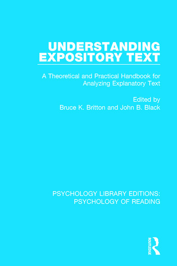 Understanding Expository Text A Theoretical and Practical Handbook for Analyzing Explanatory Text book cover