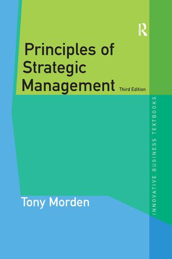 Principles of Strategic Management book cover