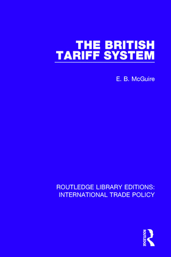 The British Tariff System book cover