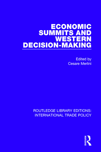 Economic Summits and Western Decision-Making book cover