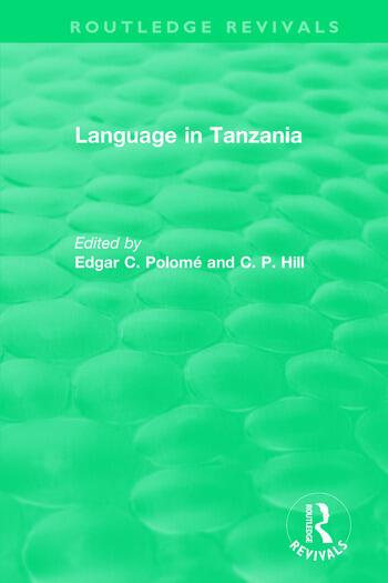 Routledge Revivals: Language in Tanzania (1980) book cover