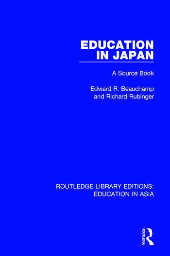 Education in Japan A Source Book book cover