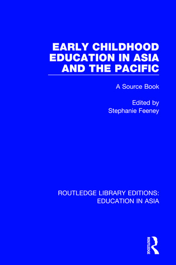 Early Childhood Education in Asia and the Pacific A Source Book book cover