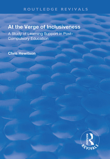 At the Verge of Inclusiveness A Study of Learning Support in Post-Compulsory Education book cover