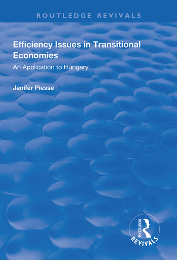 Efficiency Issues in Transitional Economies Application to Hungary book cover