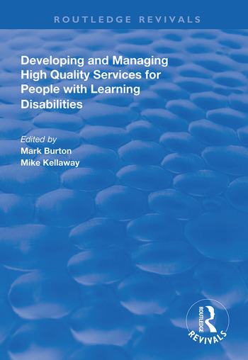 Developing and Managing High Quality Services for People with Learning Disabilities book cover