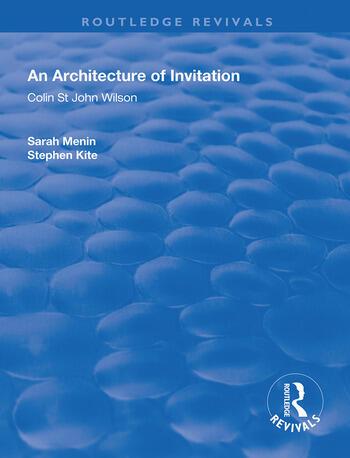 An Architecture of Invitation Colin St John Wilson book cover