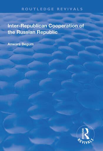 Inter-Republican Co-operation of the Russian Republic book cover